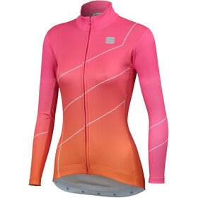 Sportful Shade Langærmet cykeltrøje Damer, bubblegum/orange sdr